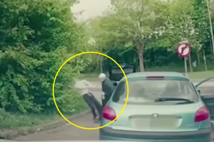 Two guys confronted another driver with a bat, but quickly learned he was an MMA fighter