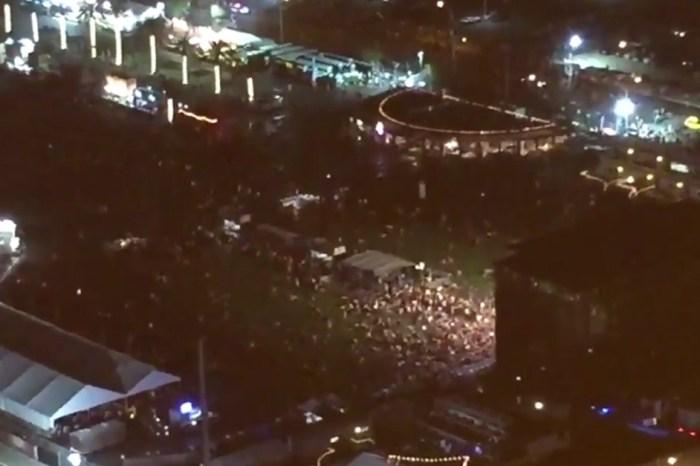 Las Vegas police rush to scene of reported mass shooting