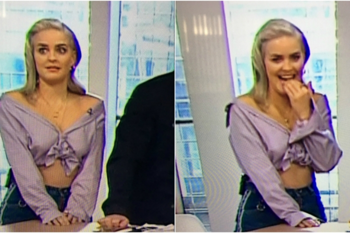 British popstar Anne-Marie looks mortified after unintentionally breaking morning show set