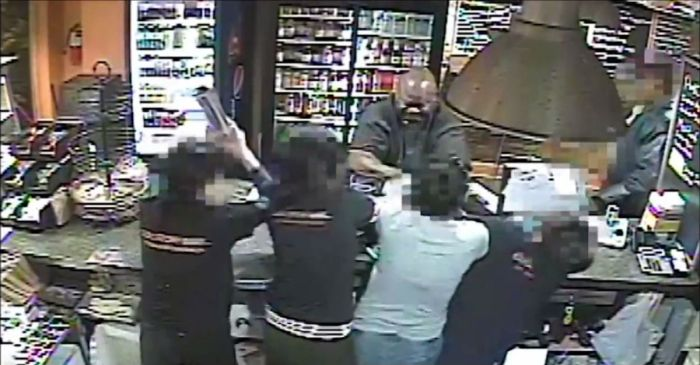 He picked the wrong business: 4 petite badasses shut a robber down in the best way