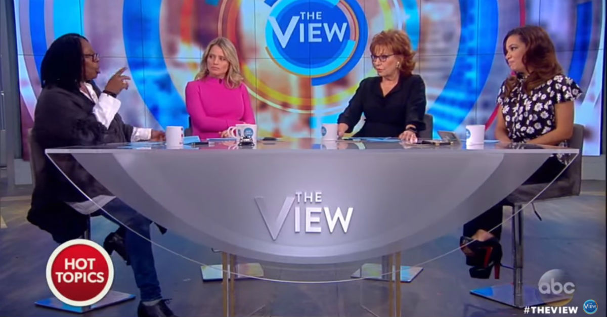 """The View"" questions the kinds of morality used to defend Roy Moore"