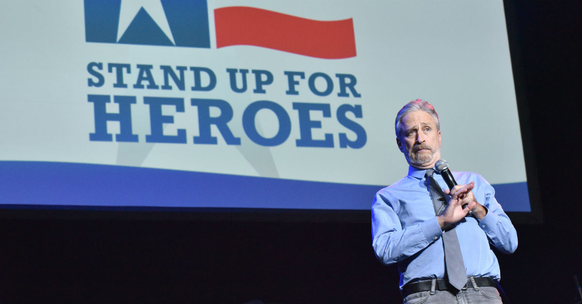 "Jon Stewart turned a veterans event into a ""d**k"" joke about President Trump"