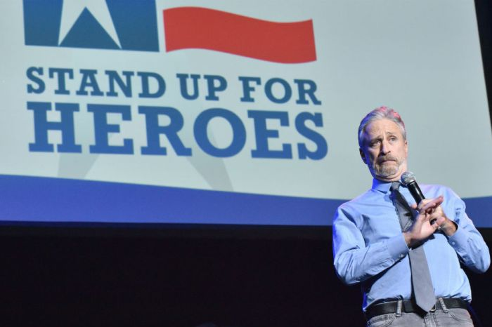 "Jon Stewart turned a veterans event into a ""d**k"" joke about President Trump"