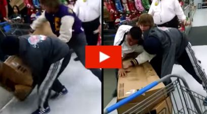 4 Grown Men Embarrass Themselves by Fighting Over Toy Car on Black Friday at Walmart