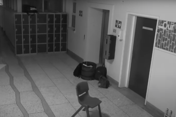 Hair-Raising Footage Shows Haunted School's Chairs Being Tossed Around