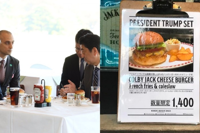 The cheeseburger favored by Trump is now a hard-to-get dish in Japan, selling out in multiple locations