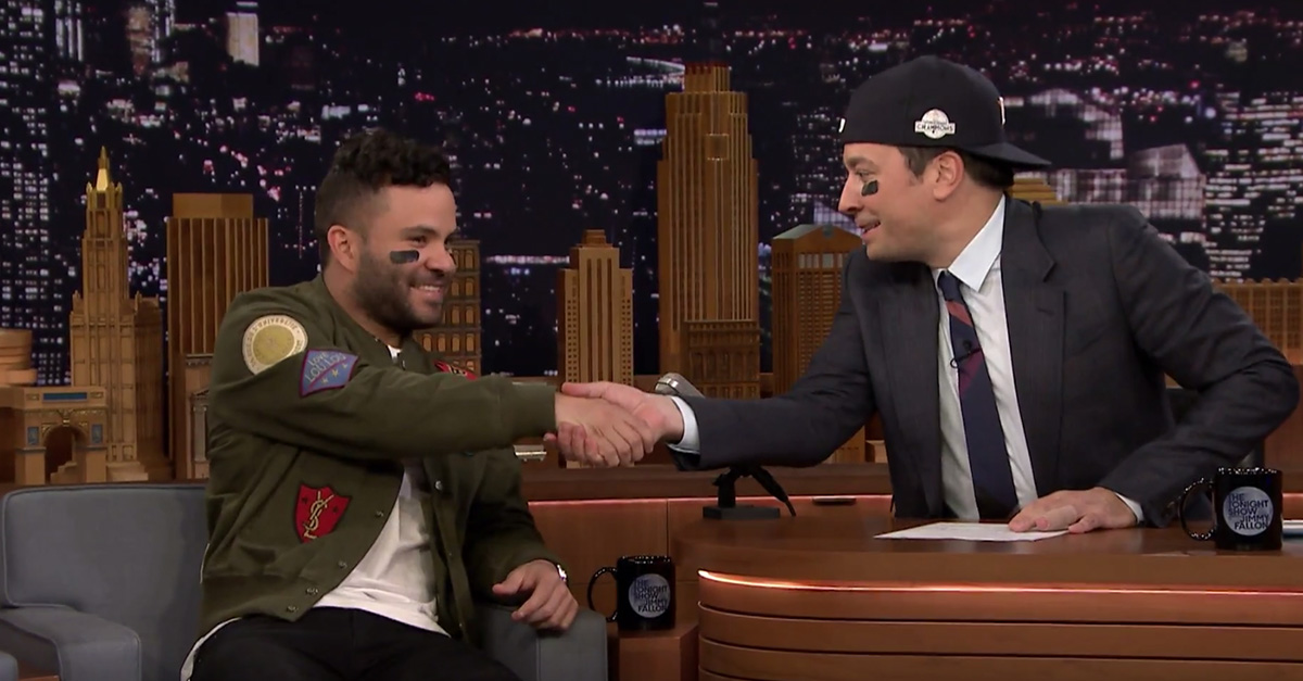 José Altuve tells Jimmy Fallon of the impact of Hurricane Harvey on their World Series win