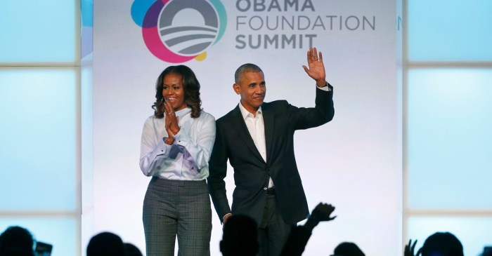 Michelle Obama implies that her husband might need some more friends