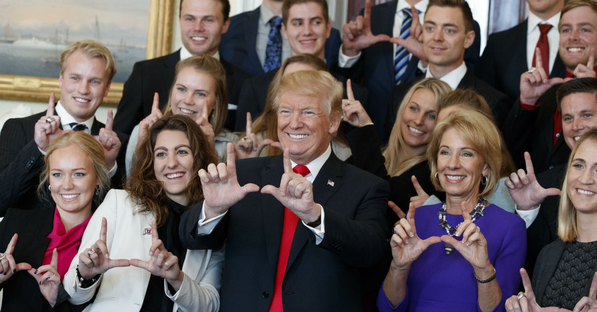 Here are the college championship teams who did — and didn't — meet with Trump today