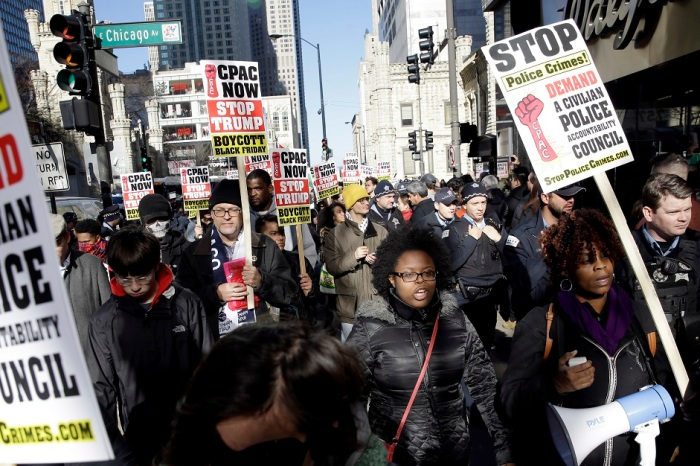 Black Friday protestors call for more police accountability in Chicago