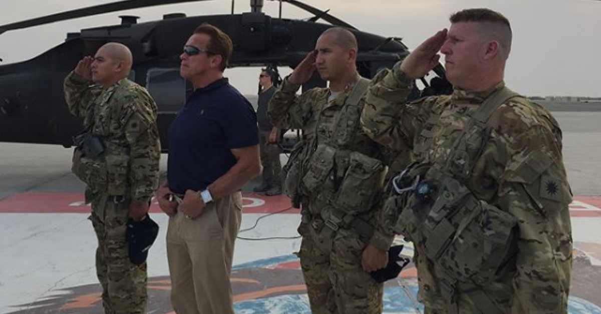 Arnold Schwarzenegger thanks our veterans for their service and sacrifice on Veteran's Day