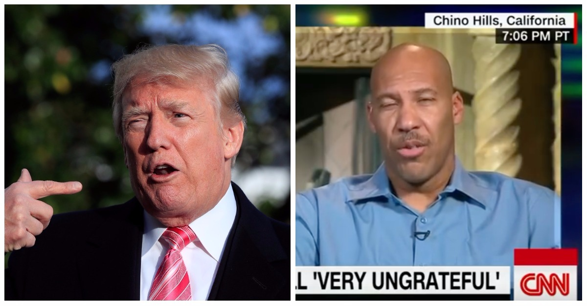 """Don King, but without the hair"": Donald Trump triples down on LaVar Ball in 2 heat-seeking tweets"