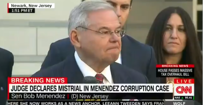 Senator Bob Menendez held a tearful press conference after his bribery trial ended in a mistrial
