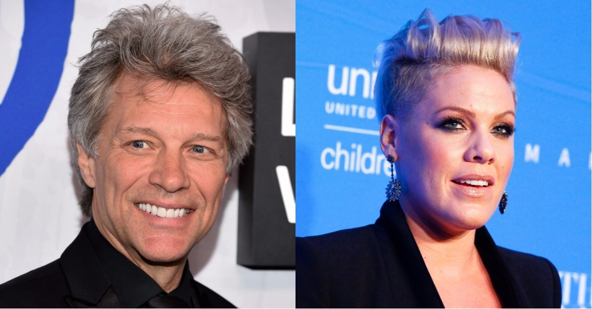 "Jon Bon Jovi let Pink ""get into his pants"" — and her husband's reaction was priceless"