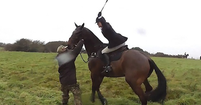 """Get off the f*****g horse"": lady hunter on horseback wasn't about to let them go without a fight"