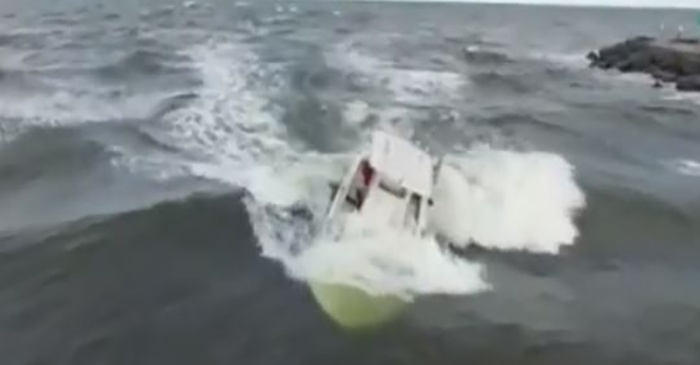 An eighth-grade surfer saw a capsized boat, and what he did next is praiseworthy