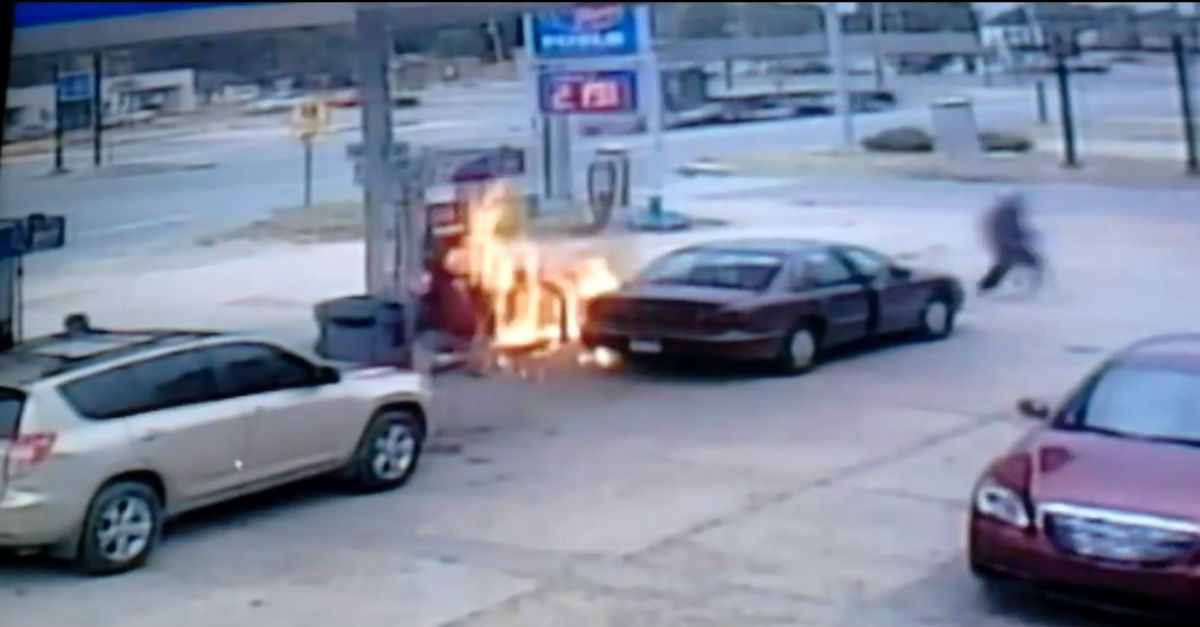 Security Footage Shows What Happens When You Smoke at the Gas Pump