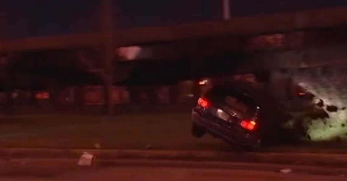 SUV flipped due to black ice in Chicago