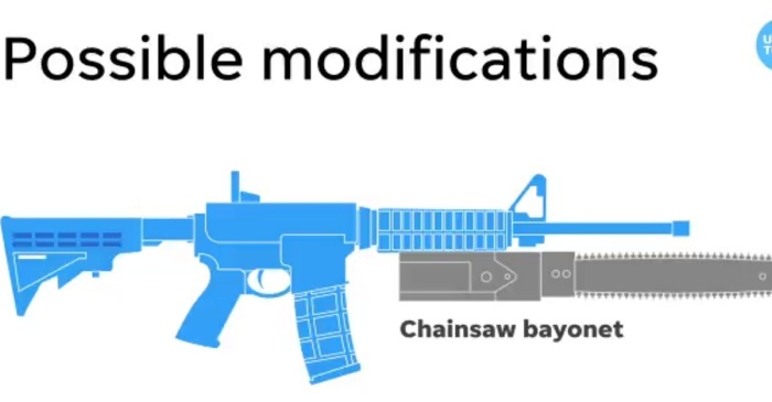 "Crazy USA Today video warns readers about rifles with ""chainsaw bayonets"" – and look at these responses"