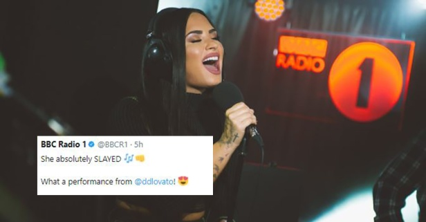 Flashback: Demi Lovato Sings a Masterful Rendition Of 'Skyscraper' On Live Lounge