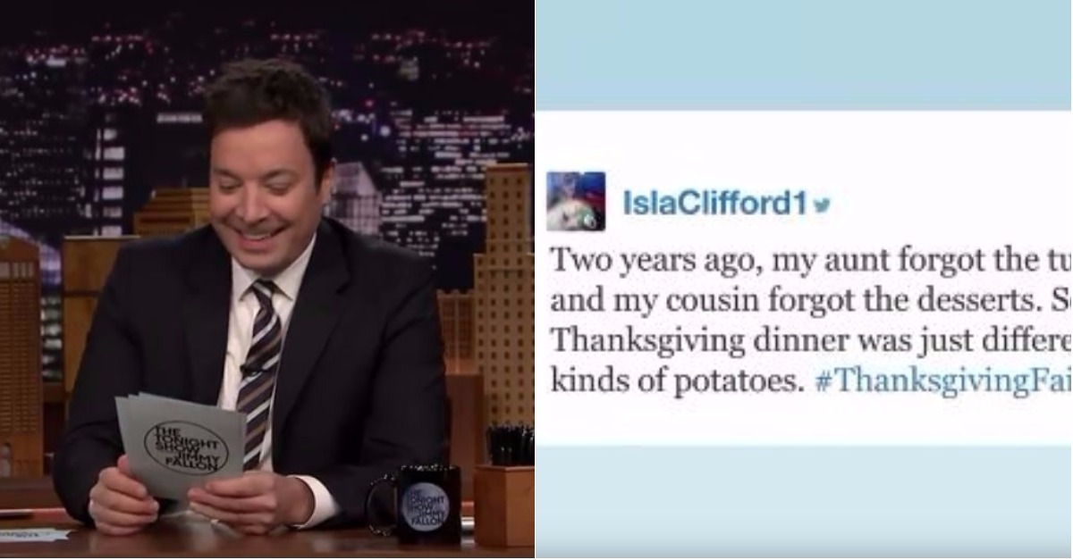 Jimmy Fallon Recounts Fans' Thanksgiving Horror Stories that will Make You Feel Better About Your Family