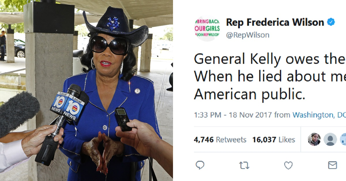 """Rep. Frederica Wilson reignited her beef with President Trump and John Kelly — """"he lied about me"""""""