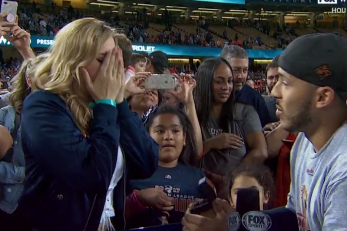 The Astros' World Series win brings a romantic ending for Carlos Correa and his girlfriend