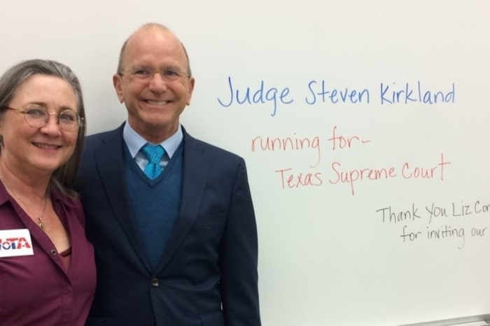 A Houston judge is running for Texas' highest court, but he's approaching uncharted territory