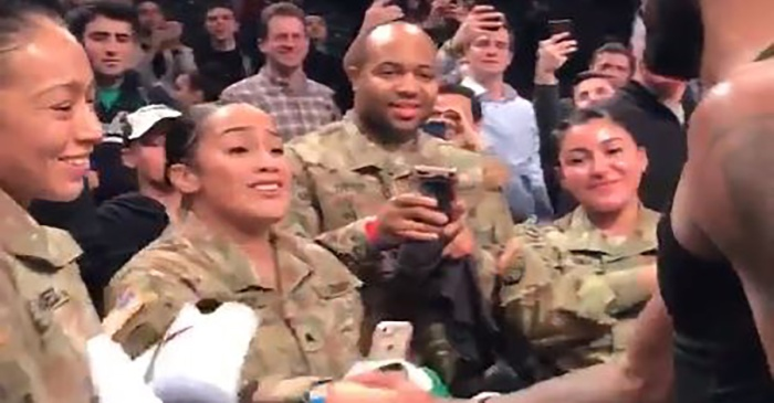 Watch how this professional basketball player thanked military vets with a thoughtful gesture