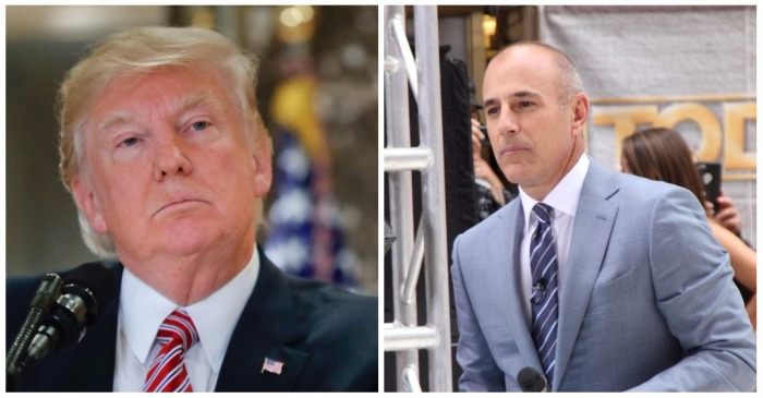 Donald Trump responded to Matt Lauer's firing at NBC by putting everyone else there on notice
