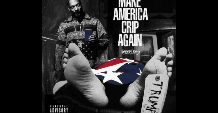 Snoop Dogg stands over President Trump's dead body on his shocking new album cover