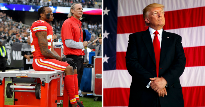 NFL player protesting during the national anthem has an unexpected proposition for President Trump