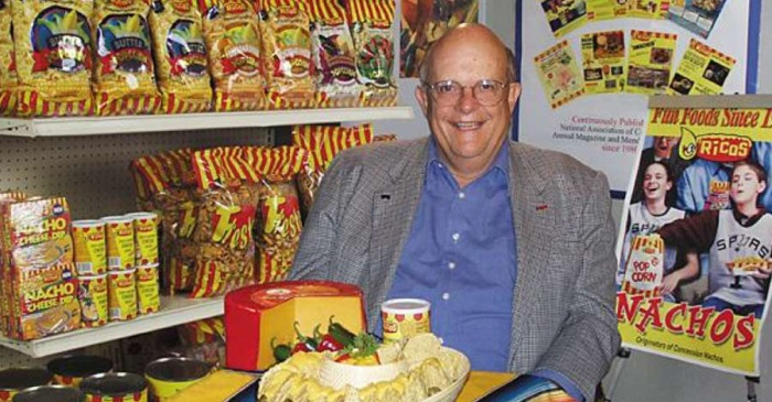 Dip a chip in remembrance of Frank Liberto, father of the concession nacho