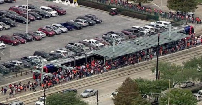 About 1 million fans clogged downtown for the parade, and the traffic was epic