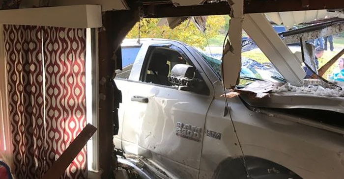 "A 10-year-old girl in a pickup drove directly into a home — her alarming reason had a cop saying ""Excuse me?"""