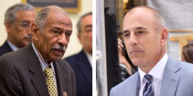 Private sector vs. government: Why is Matt Lauer out but John Conyers still there?