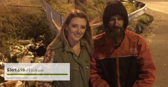 A homeless Marine gave a stranger in need all the money he had — now he's being repaid in an amazing way