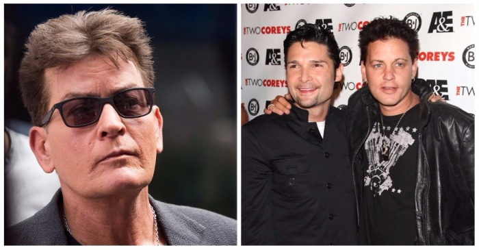 Charlie Sheen doubles down on denying the shocking Corey Haim allegations against him with a bold move