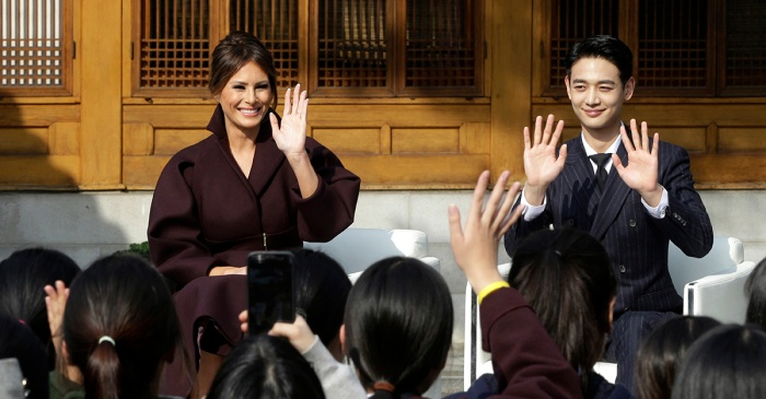 Melania Trump thought these teens showed up for her, but a K-pop star stole her thunder