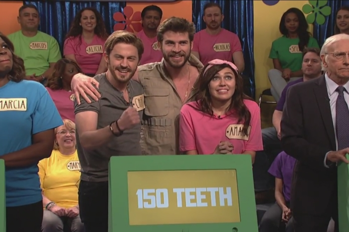 "Liam Hemsworth gatecrashes an ""SNL"" skit featuring his fiancée Miley Cyrus"
