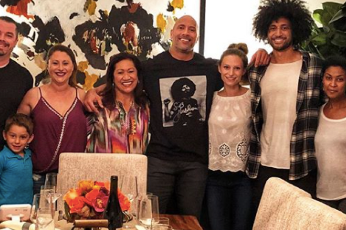 """The Rock"" reveals what his family Thanksgiving in 1987 was like and gives thanks for how far he's come"