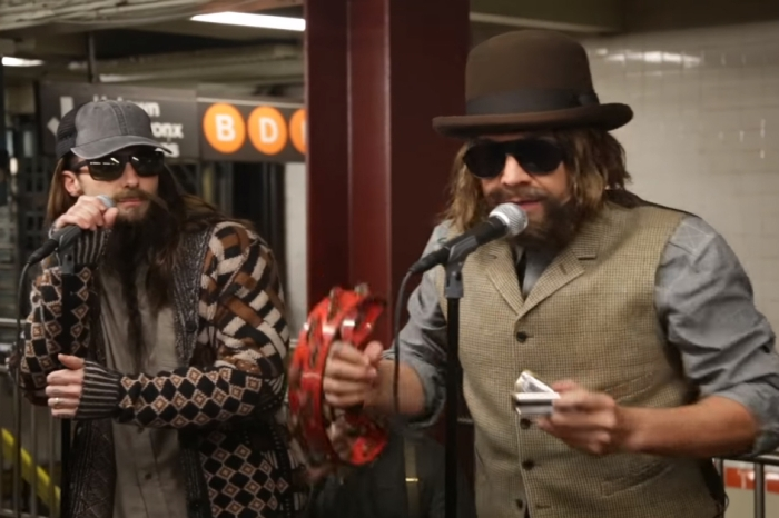 Jimmy Fallon and Maroon 5 pretended to be subway musicians and blew the commuters of NYC away
