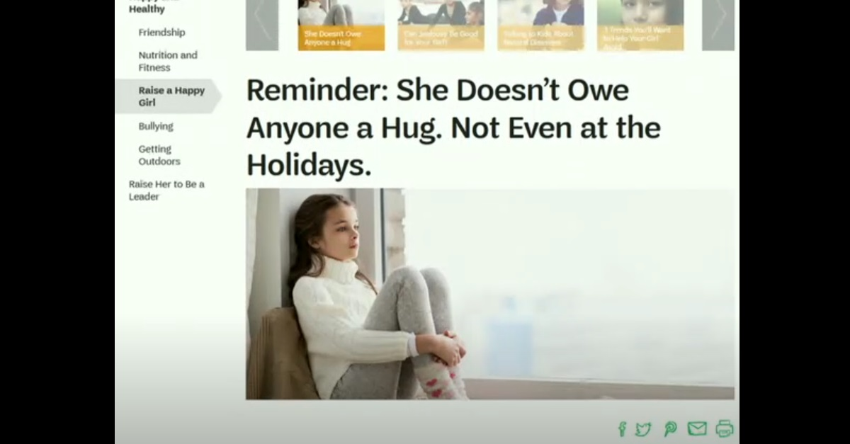 """Not everyone's happy that the Girl Scouts now say girls """"don't owe anyone a hug"""""""