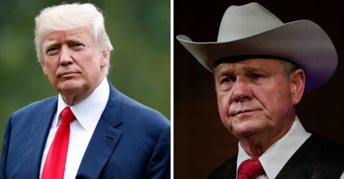 President Trump finally weighs in on controversial Senate candidate Roy Moore