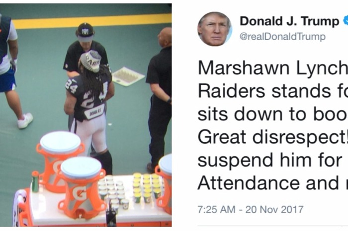"""Great disrespect!"": Trump called out a star NFL running back for his display in Mexico"
