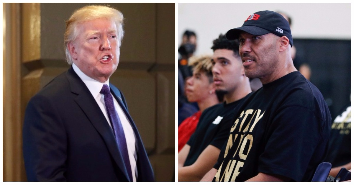 Basketball dad who wouldn't thank Trump makes decision to send his kids back overseas