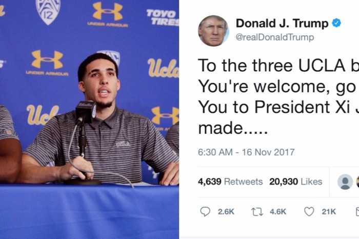 President Trump offers arrested UCLA players a word of advice about staying out of trouble