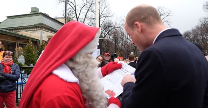 Prince William hand delivered Prince George's Christmas wish list to Santa himself