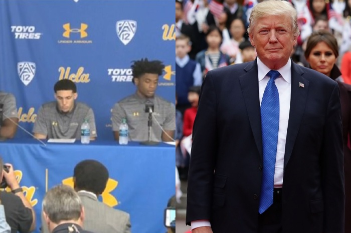 Arrested UCLA basketball players address President Trump as they learn their punishment