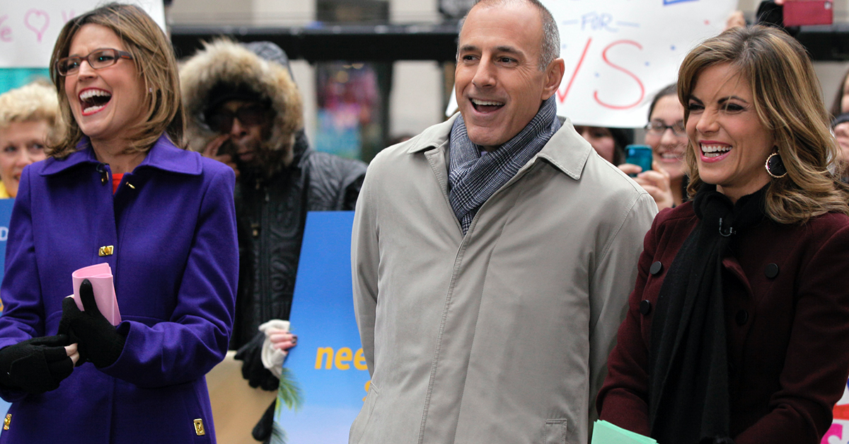 "Matt Lauer has been axed from ""TODAY,"" and rumors of an affair with an anchor are back"
